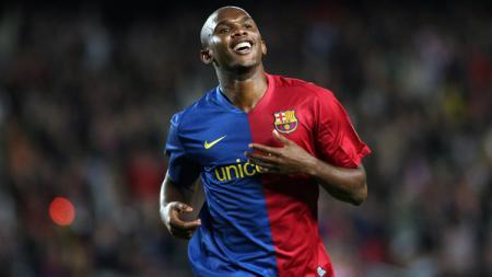 Striker legendaris Barcelona, Samuel Eto'o. - INDOSPORT