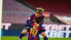 Indosport - Antoine Griezmann anjlok di raksasa LaLiga Spanyol, Barcelona, Lionel Messi jadi tersangkanya.