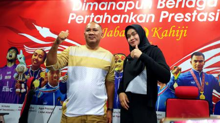 Pelatih tim bola voli putri Jawa Barat, Risco Herlambang, optimistis bisa meraih medali emas pada Pekan Olahraga Nasional (PON) XX/2021. - INDOSPORT