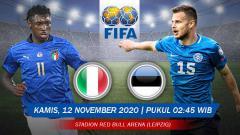 Indosport - Pertandingan Italia vs Estonia (Uji Coba).