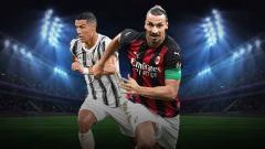 Indosport - Pemain Juventus, Cristiano Ronaldo dan pemain AC Milan, Zlatan Ibrahimović.