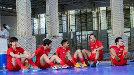 Timnas futsal Indonesia menggelar pemusatan latihan di Baskhara Futsal, Surabaya. - INDOSPORT