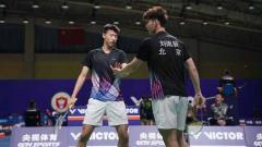 Indosport - Pebulutangkis asal Hong Kong, Liu Yuchen dan Feng Yanzhe.