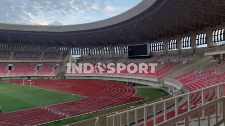 Stadion Lukas Enembe yang berada di Kampung Harapan, Sentani, Kabupaten Jayapura. - INDOSPORT