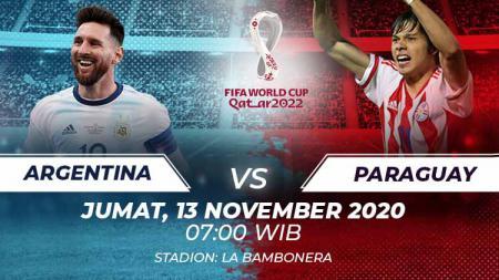 Berikut link live streaming pertandingan kualifikasi Piala Dunia 2022 yang akan mempertemukan Argentina vs Paraguay. - INDOSPORT