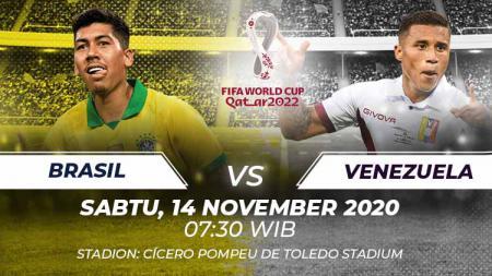 Berikut link live streaming pertandingan kualifikasi Piala Dunia 2022 yang akan mempertemukan Brasil vs Venezuela. - INDOSPORT
