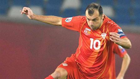 Penantian panjang Goran Pandev terbayar sudah setelah Makdeonia Utara memastikan langkah mereka untuk bisa berlaga di Euro 2020. - INDOSPORT