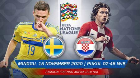 Berikut prediksi pertandingan pekan kelima UEFA Nations League A 2020-2021 di Grup C antara tuan rumah timnas Swedia vs Kroasia. - INDOSPORT