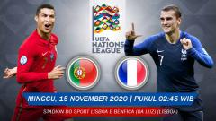 Indosport - Link Live Streaming Pertandingan Portugal vs Prancis (UEFA Nations League).
