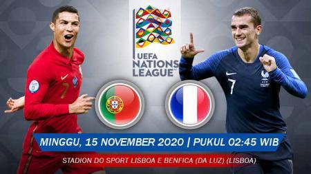 Berikut prediksi pertandingan UEFA Nations League antara Portugal vs Prancis, Minggu (15/11/20) pukul 02.45 WIB. - INDOSPORT