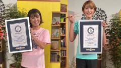 Indosport - Atlet Jepang Mizuki Fujii dan Maiko Kano, mencatatkan rekor bulutangkis di Guinness World Records.