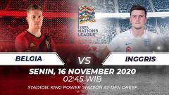Indosport - Belgia akan segera berhadapan dengan Inggris di UEFA Nations League. Anda bisa menyaksikan pertandingan tersebut melalui live streaming.