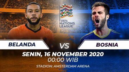 Berikut link live streaming pertandingan UEFA Nations League 2020 Grup A yang mempertemukan Belanda vs Bosnia Herzegovina. - INDOSPORT