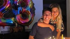 Indosport - Joan Mir dan Alejandra Lopez Garro.