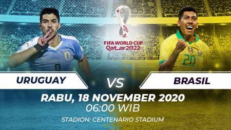 Berikut link live streaming pertandingan kualifikasi Piala Dunia 2022 yang akan mempertemukan Uruguay vs Brasil. - INDOSPORT