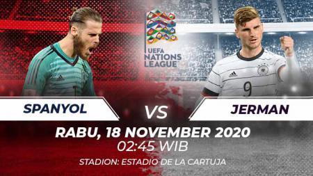 Duel seru bakal kembali tersaji di matchday 6 Grup A4 UEFA Nations League antara Spanyol menghadapi Jerman di Stadion Olimpiade Sevilla, Selasa (18/11/20). - INDOSPORT