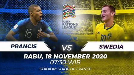 Berikut tersaji link live streaming pertandingan sepak bola UEFA Nations League antara Prancis vs Swedia yang akan berlangsung pada Rabu (18/11/20) pukul 02.45. - INDOSPORT