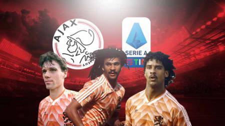 Sepak bola Italia tak bisa dilepaskan dari talenta-talenta hebat yang dilahirkan klub raksasa Belanda, Ajax Amsterdam, selama sekitar empat dekade terakhir. - INDOSPORT