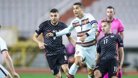 Berikut hasil pertandingan terakhir fase Grup 3 UEFA Nations League A musim 2020-2021 antara tuan rumah Kroasia vs Portugal pada Rabu (18/11/2020) dini hari WIB. - INDOSPORT