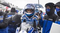 Indosport - Pembalap Indonesia, Galang Hendra Pratama, bersiap di grid pada balapan World Supersport di Sirkuit Magny Cours, Prancis, 3 Oktober 2020.