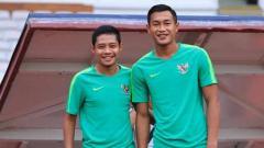 Indosport - Pemain Timnas Indonesia, Evan Dimas dan Hansamu Yama.