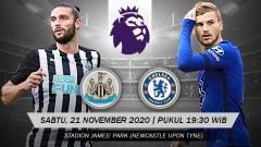 Indosport - Berikut ini link live streaming pertandingan Liga Inggris pekan kesembilan antara Newcastle United vs Chelsea hari ini, Sabtu (21/11/20) pukul 19.30 WIB.