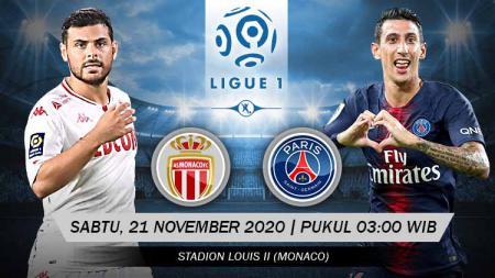 Berikut prediksi pertandingan Ligue 1 Prancis 2020/21 antara AS Monaco vs Paris Saint-Germain, Sabtu (21/11/20) dini hari WIB. - INDOSPORT