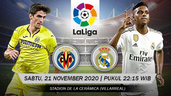 Link Live Streaming LaLiga Spanyol: Villarreal vs Real Madrid