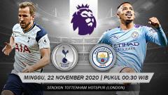 Indosport - Pekan ke-9 Liga Inggris 2020/21 akan menghadirkan laga Big Match antara Tottenham vs Man City.