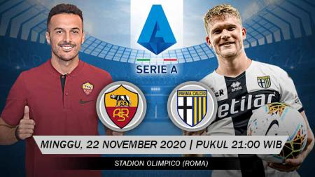 Pertandingan AS Roma vs Parma (Serie A). - INDOSPORT