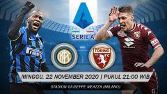 Indosport - Berikut tersaji link live streaming pertandingan sepak bola Serie A Liga Italia 2020-2021 antara Inter Milan vs Torino yang akan berlangsung di Giuseppe Meazza.