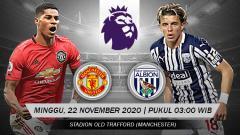 Indosport - Link Live Streaming Pertandingan Manchester United vs West Bromwich Albion (Liga Inggris).