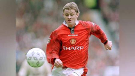 Ole Gunnar Solskjær, saat masih berseragam Manchester United. - INDOSPORT