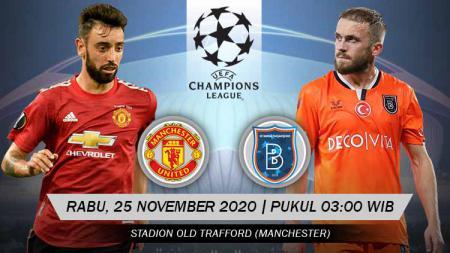 Berikut tersaji link live streaming pertandingan Liga Champions 2020-2021 antara Manchester United vs Istanbul Basaksehir yang akan berlangsung di Old Trafford. - INDOSPORT