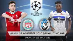 Indosport - Prediksi pertandingan Liga Champions antara Liverpool vs Atalanta.