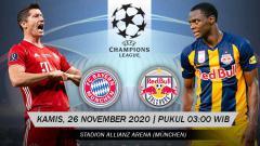 Indosport - Pertandingan Bayern Munchen vs Red Bull Salzburg (Liga Champions).