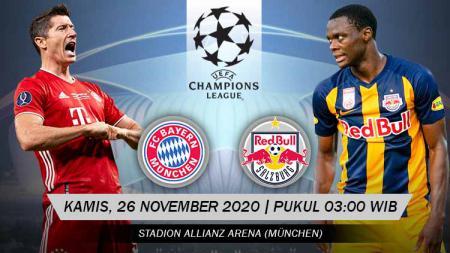 Berikut link live streaming pertandingan Liga Champions Grup A yang akan mempertemukan Bayern Munchen vs RB Salzburg. - INDOSPORT