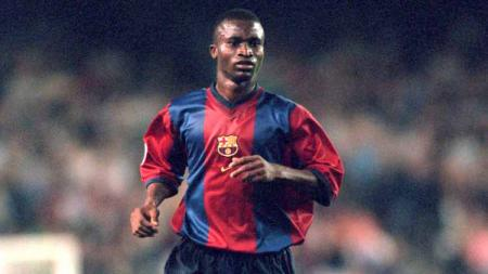 Samuel Gbenga Okunowo saat masih berseragam Barcelona. - INDOSPORT