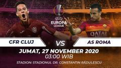 Indosport - AS Roma berpeluang mengamankan tiket 32 besar saat mengadapi CFR Cluj di matchday 4 fase grup Liga Europa, Jumat (27/11/20). Berikut prediksi laga tersebut.