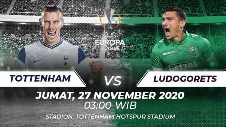 Berikut ini link live streaming pertandingan Liga Europa Tottenham Hotspur vs Lodogorets yang akan berlangsung hari ini, Jumat (27/11/20) pukul 03.00 WIB. - INDOSPORT