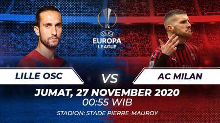 Lille OFC vs Ac Milan di match keempat grup H liga Europa 2020/21 - INDOSPORT