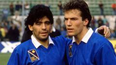 Indosport - Lotthar Matthaus-Diego Maradona.