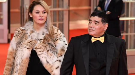 Rocio Geraldine Oliva bersama dengan Diego Maradona - INDOSPORT