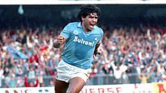 Indosport - Diego Maradona, saat berseragam Napoli 1986.