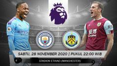 Indosport - Pertandingan Manchester City vs Burnley (Liga Inggris).