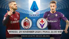 Indosport - Terselip lima fakta menarik jelang duel seru antara AC Milan vs Fiorentina di pekan ke-15 Serie A Liga Italia.