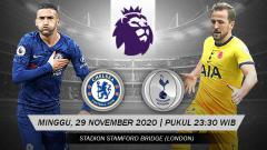 Indosport - Berikut prediksi pertandingan pekan ke-10 Liga Inggris 2020/21 antara Chelsea vs Tottenham Hotspur di Stamford Bridge, Minggu (29/11/20) WIB.