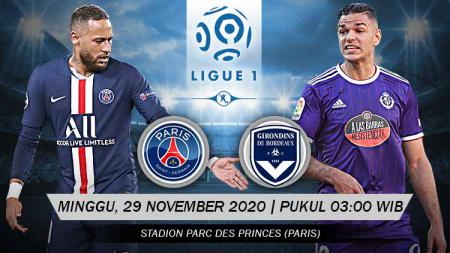 Berikut prediksi pertandingan PSG vs Bordeaux di ajang Ligue 1 pekan ke-12, Minggu (29/11/2020) pukul 03.00 WIB di Stadion Parc des Princes. - INDOSPORT