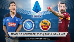 Indosport - Link Live Streaming Pertandingan Napoli vs AS Roma (Serie A).