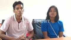 Indosport - Dua pebulutangkis kakak beradik, Chico Aura Dwi Wardoyo dan Ester Tri Wardoyo.